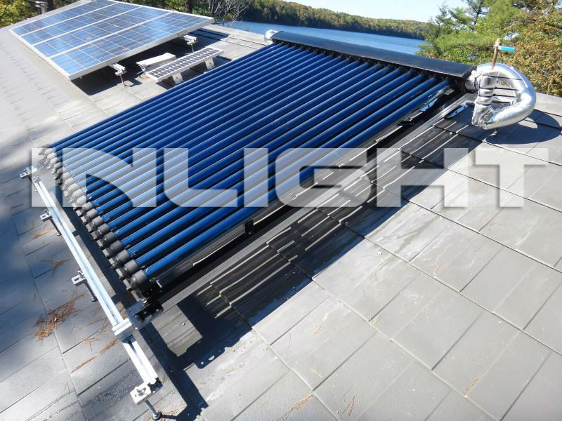 Villa roof pressure copper header aluminium solar collector(SRCC,Solar Keymark and ISO)