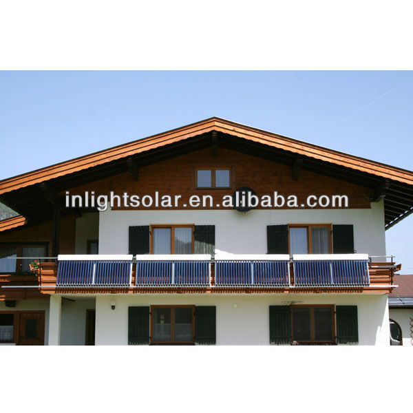Balcony Mounting Heat Pipe Solar Collector Solar Panels