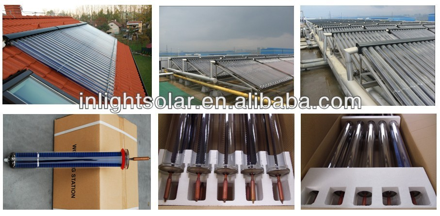 Blue Titanium Coating Heat Pipe Solar Energy Collectors