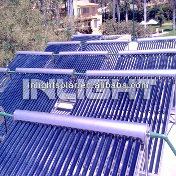 One-wing Round Manifold Non Pressurized Solar Collectors