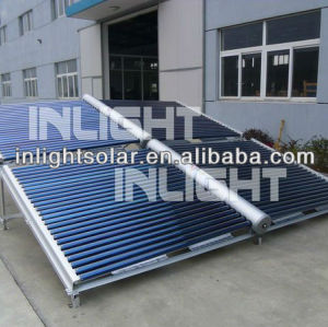Unpressurized Round Manifold Butterfly Vacuum Tube Solar Collectors