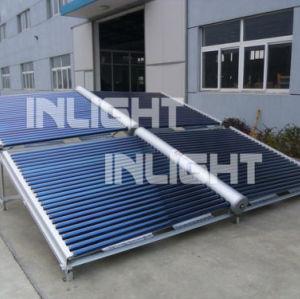 Rooftop glass vacuum tube solar collector with low cost