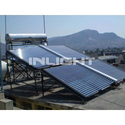 All glass vacuum tube solar energy collector