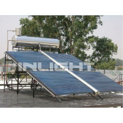 big house use butterfly glass tube solar collector