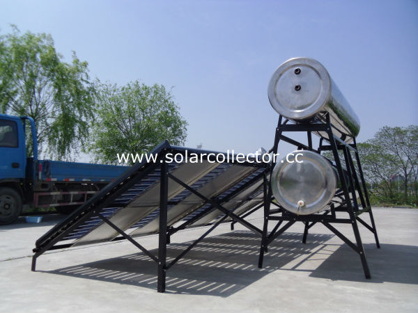 two wing direct flow glass tube solar collector
