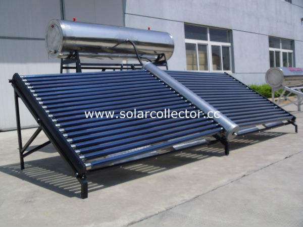 solar thermal vacuum tube solar collector with low pressure