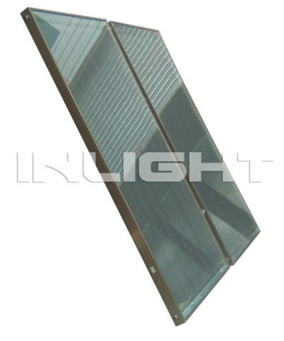 split flat panel solar water heater collector