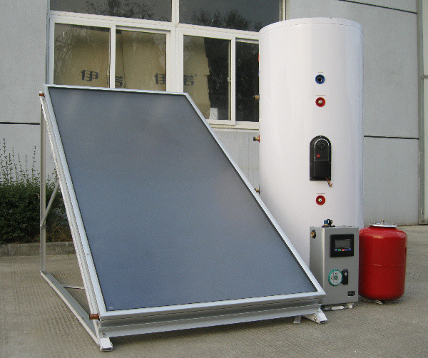 split flat panel solar thermal collector