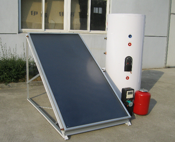 solid durable black chrome flat panel solar collector