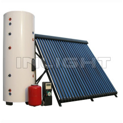 Split Solar Hot Water Heater with single coil