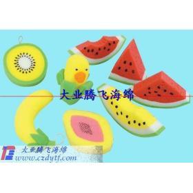 fruit sponge toy/fruit toys for kids/children plastic fruit toy/growing sponge toys