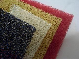 coloful filte foam/gutter filter sponge/air conditioner foam filter