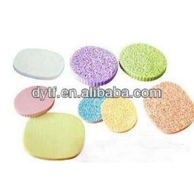 PU facial cleaning sponge/soft facial sponge/compressed cellulose facial sponge