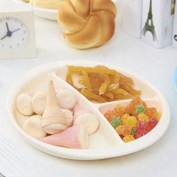 PLA Corn Materials  Baby Oval separated dinner Plates
