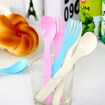 One set of baby spoon and fork