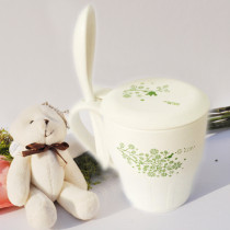 PLA breakfast cup with spoon and lid