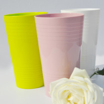 Geometrical Tumbler 550ml PLA juice glass