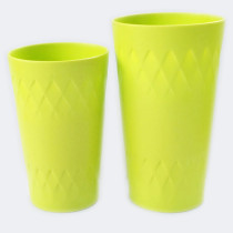 Rhombic Tumbler 400ml PLA juice glass