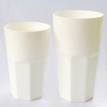 Octagonal Tumbler 400mL PLA juice glass