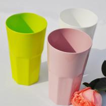 Octagonal Tumbler 550ml PLA juice glass