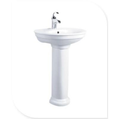 Bathroom suite floor standing pedestal wash basin