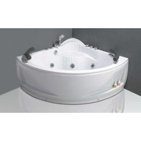 Bath sink corner bathtub with comfortable headrest
