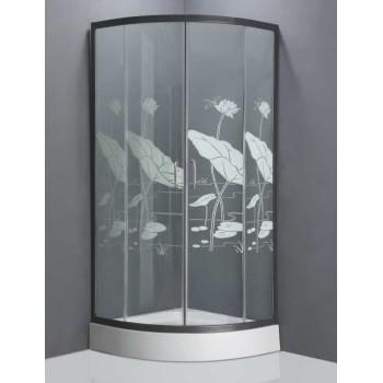 Lotus leaf design toughened glass shower enclosure