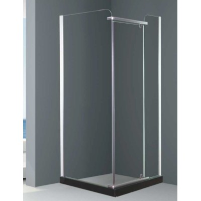 Bath room with ground mass hinge shower cubicle