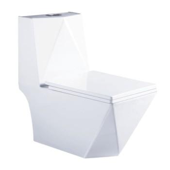 Hydrocone type square one piece  toilet bowl