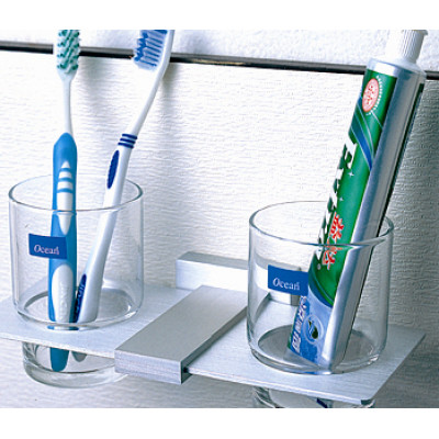 Bathroom shelves double cup shelf,cup holder