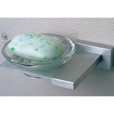 Bathroom fixtures high brass soap dish with glass