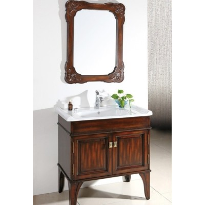 Classical Solid Bathroom Vanity Cabinet