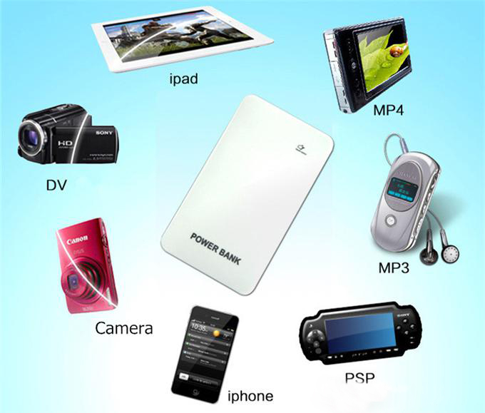 Universal Portable Power Bank External Emergency Backup Battery Charger For Mobile Phone S4 iPhone 5