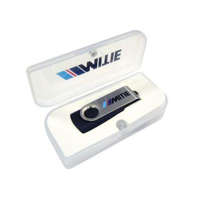 White Plastic box Usb Flash Drive