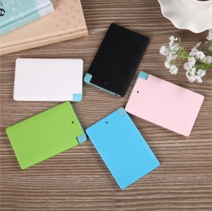 Ultra Slim Portable Power Bank 2600mAh External Battery Charger Backup Pack Mobile Powerbank for iPhone Samsung HTC Cell Phones