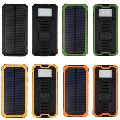 Solar Power Bank Dual USB 30000mAh Mobile Portable Charger Polymer Power bank Battery