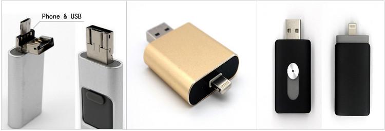 Newest 4GB / 8GB 32GB OTG USB Flash Drive For IPhone With Logo Custom