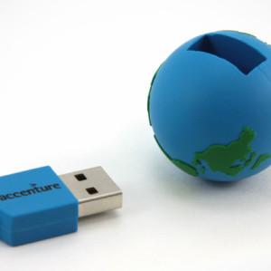 The Globe Shape PVC USB Flash Drive