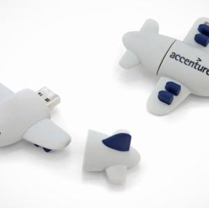 The Plain Shape PVC USB Flash Drive