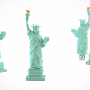 Statue of Liberty Shape PVC USB Flash Stick