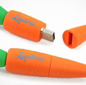 Carrot Shape PVC USB Flash Stick