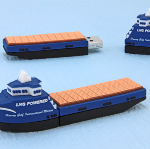 Freighter Shape PVC USB Flash Stick