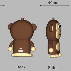 5200mAh Custom PVC Power Bank Monkey Shape