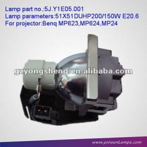Lámpara del proyector compatible 5j. Para y1e05.001 mp24/mp623/mp624