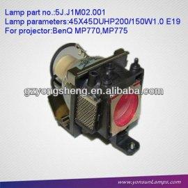 5j. J1m02.001 lámpara del proyector benq para mp770/mp775 proyector
