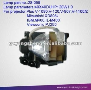 замены лампы проектора 28-059 для плюс v-807