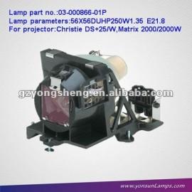 Christie 03-000866-01p buls proyector con jaula para ds+25/proyector de w