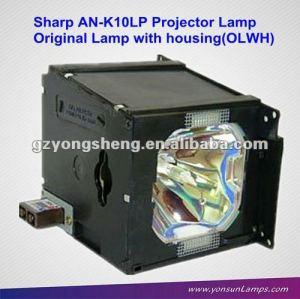 Para sharp an-k10lp bombilla del proyector apto para xv-z10000, xv-10000