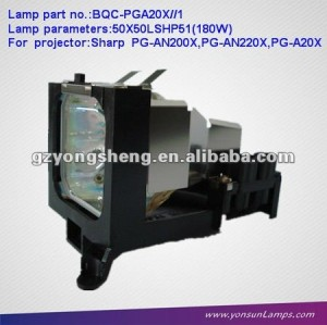 projector lamp/mercury lamps AN-A20LP/BQC-PGA201 with housing for PG-A20X projector