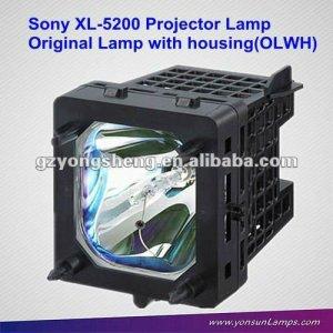 Para sony xl-5200 lámpara del proyector, trasero de reemplazo de la lámpara de tv con la vivienda